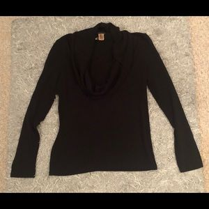 Ann Taylor Black Cowl Neck Sweater